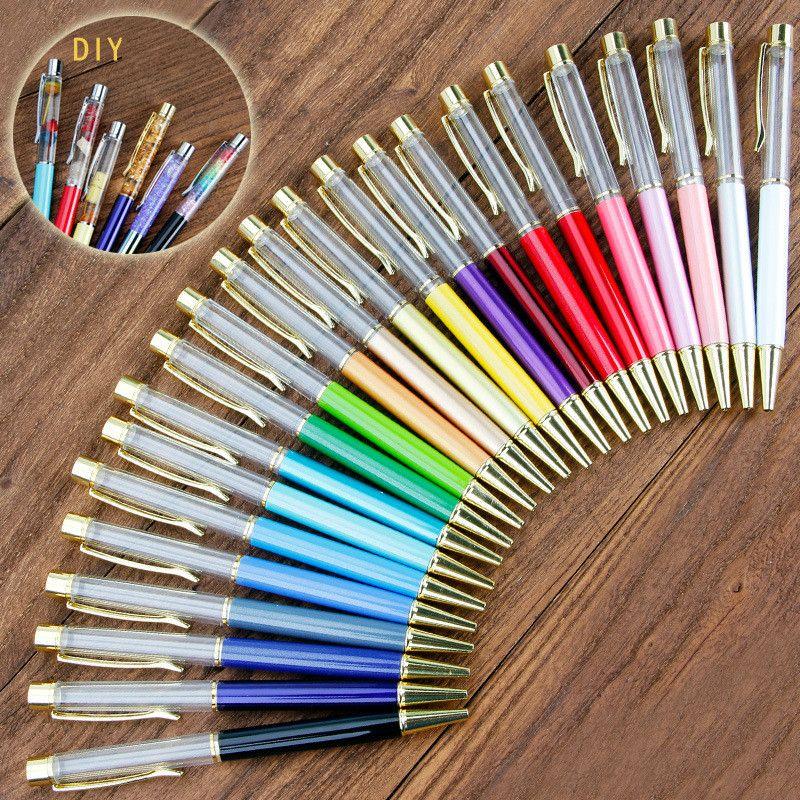 ديي كريستال قلم حبر فارغة الكرة القلم الأسود الأزرق حبر الكتابة اللوازم الذكية هدية WJ047