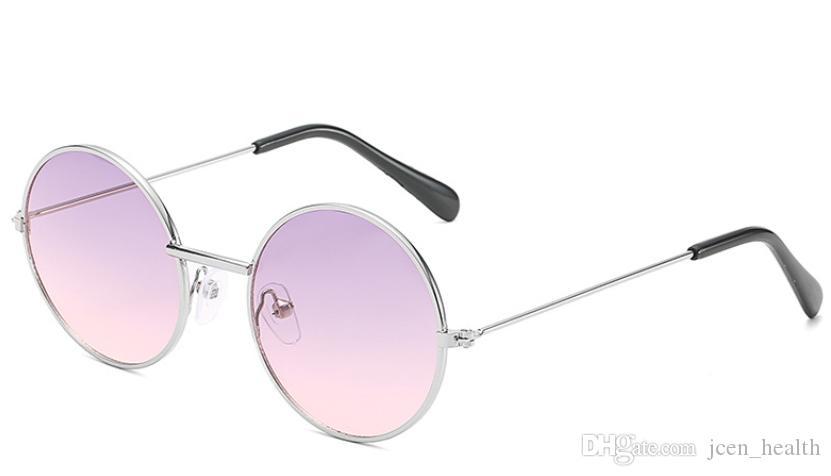 2019 새로운 디자인 선글라스 아이를위한 패션 선글라스 성격 트렌드 반사 코팅 안경 멀티 컬러 야외 UV400 태양 안경
