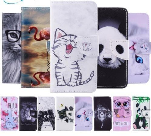 Samsung Galaxy J3 Case Cute Panda Cat Flamingo Leather Flip Wallet Phone Cases For Samsung J3 Etui Capinha