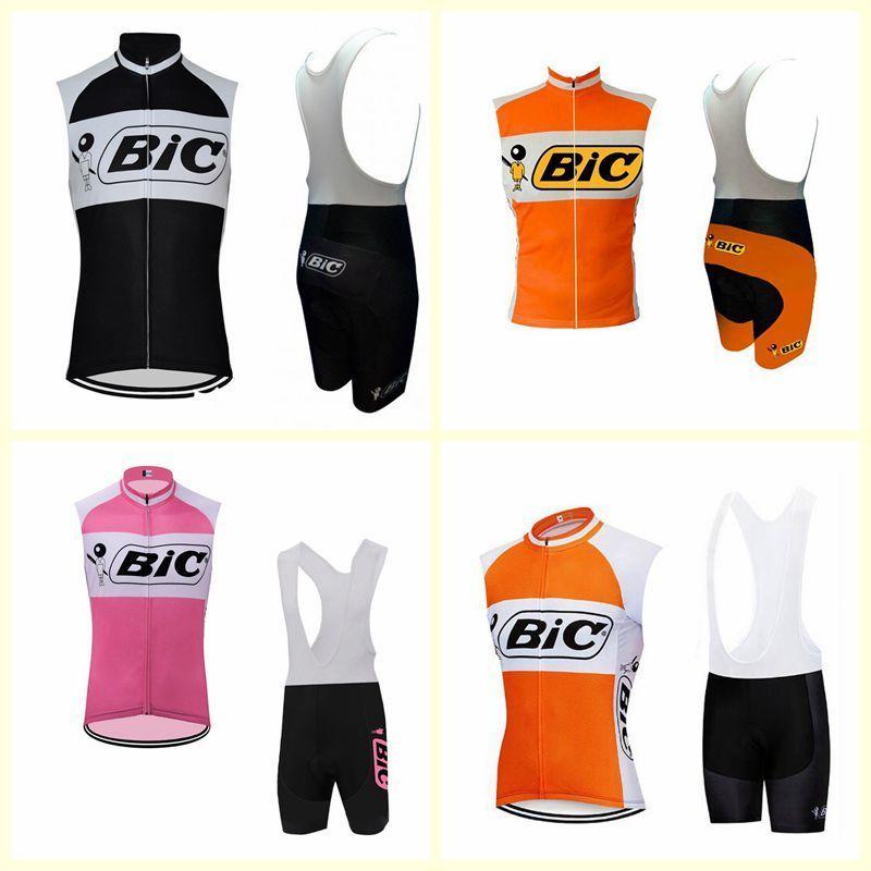 Bic Cycling Team manches Jersey Gilet Cuissard Homme Vêtements de sport Ensembles Top Bike Qualité