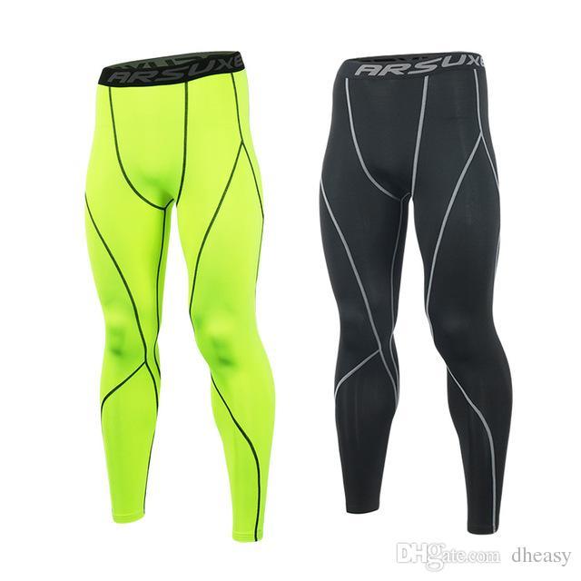 Toptan Erkekler Spor Sıkıştırma Tayt Baz Katman Koşu Tayt Pantolon Run Spor GYM Egzersiz Aktif Eğitim Egzersiz Pantolon K3