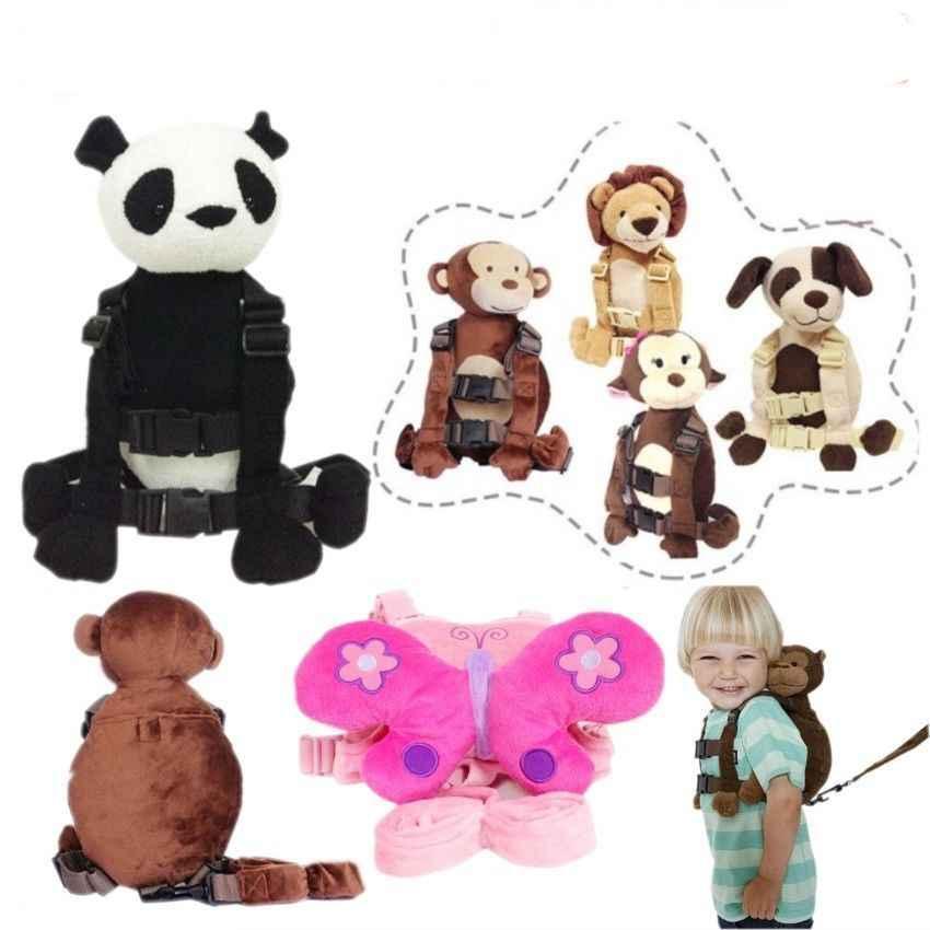 Toddler Kids Safety Walking Harness Anti-lost Strap Wrist Leash Plush Animal Bags Boy Girls Cartoon Backpack School Bag Satchel