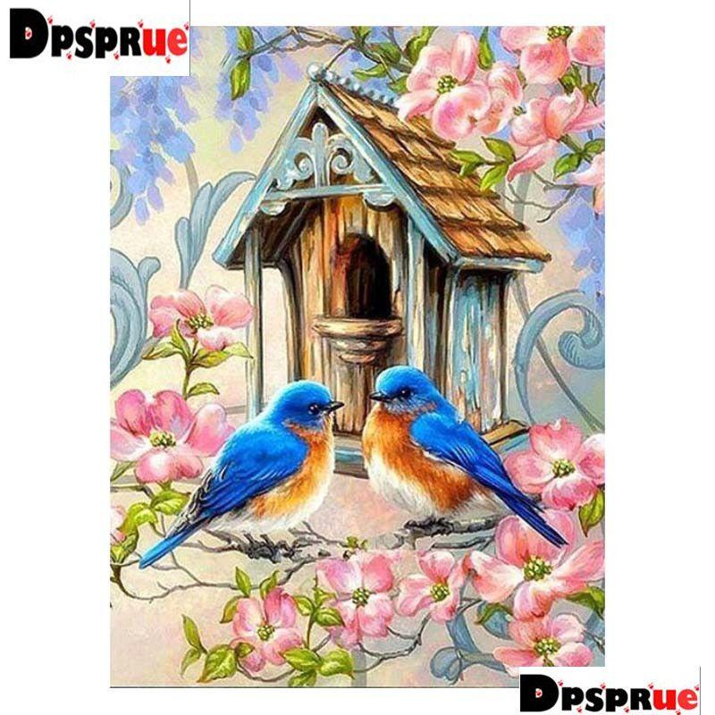 """Nueva plaza llena / diamante redondo 5D pintura diamante bricolaje """"Animal Bird"""" 3D bordado de punto de Cruz mosaico decoración de la boda decoración regalo regalo D12"""