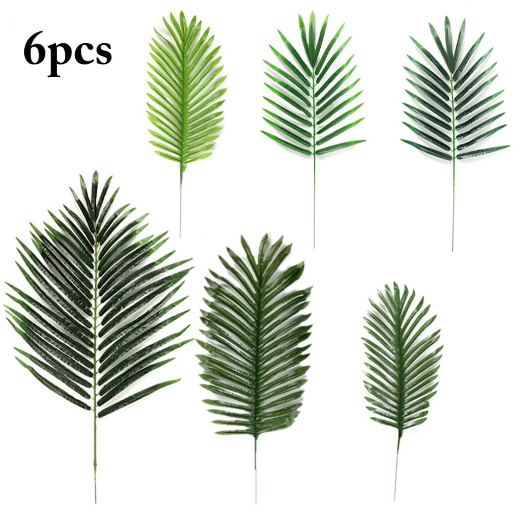 2020 Artificial Palm Leaves Fake Plastic Leaves Plants Fake Palm Tree Leaf Greenery Floral Flower Arrangement Wedding Decoration From Tinaya 23 2 Dhgate Com