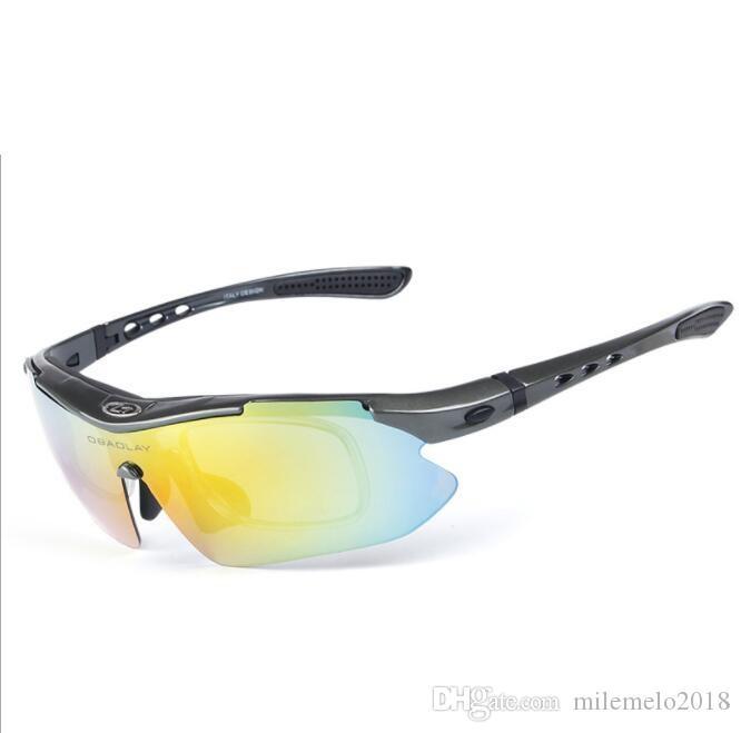 Halbrahmen polarisierte Fahrrad Sonnenbrille Rennrad Brille Gebirgsfahrradbrille austauschbare Objektiv 5 Outdoor Brille