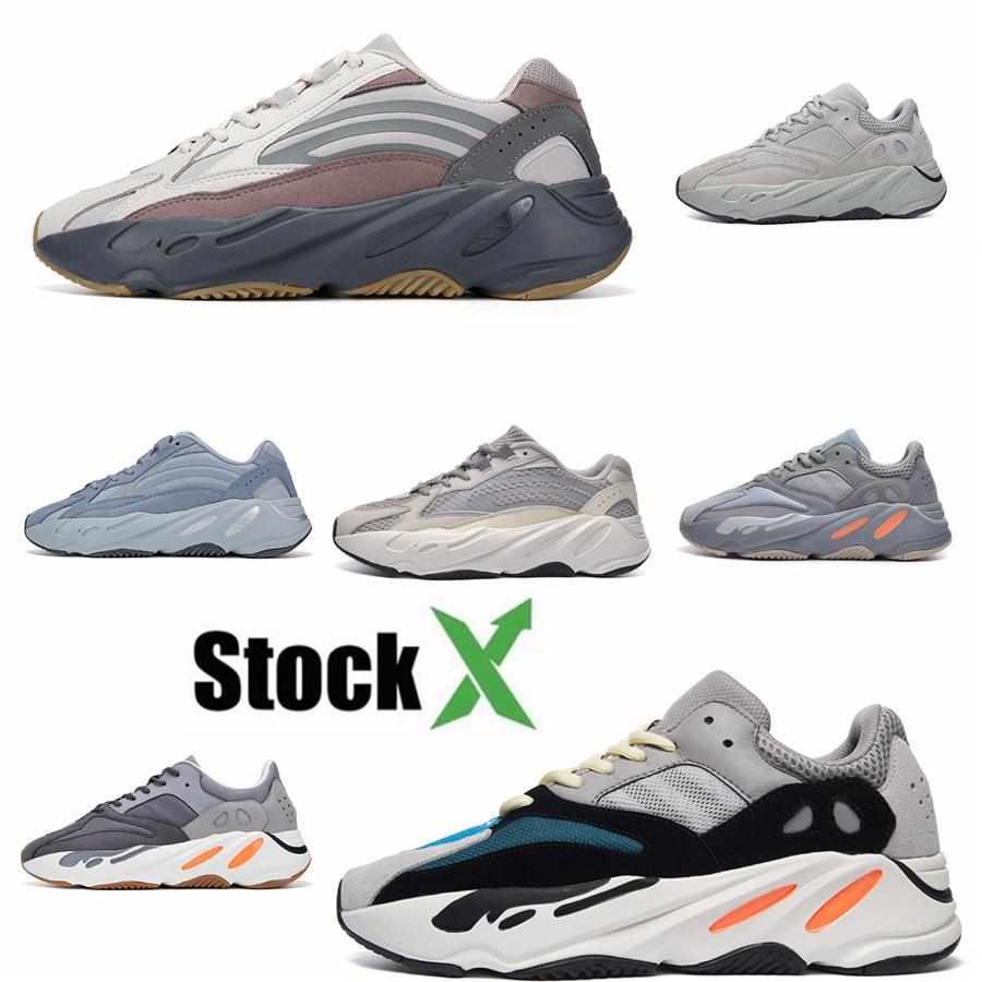 Com Box Novas 700 do corredor da onda malva Inércia Mens Sapatos Kanye West Designer Shoes Homens Mulheres 700 V2 estáticos Esportes Seankers Tamanho 36-45 # 51 # QA234