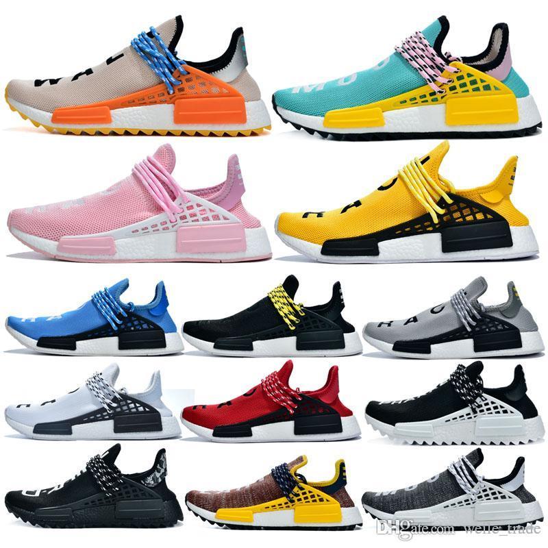 NMD raça humana Running Shoes Homens Mulheres solares Pacote de mãe negra Nerd Pharrell Williams Designer Men sneakers Trainers des chaussures