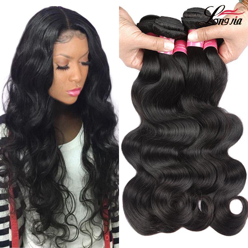 Малазийская девственные волосы на тело волна 3 пучков Малазийских девственной цвет волос расширения человеческой природы малазийского волос ткать пучки