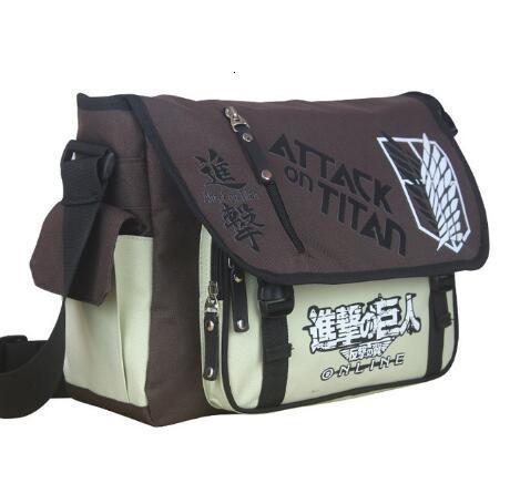 Titan Naruto Tokyo Ghoul One Piece Saldırı Komşum Totoro Messenger Okul Çantası Sling Satchel anime tek omuz çantaları CJ191128