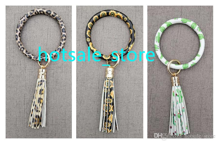 2020 Sunflower Leather Bracelet Keychain With Tassel Newest