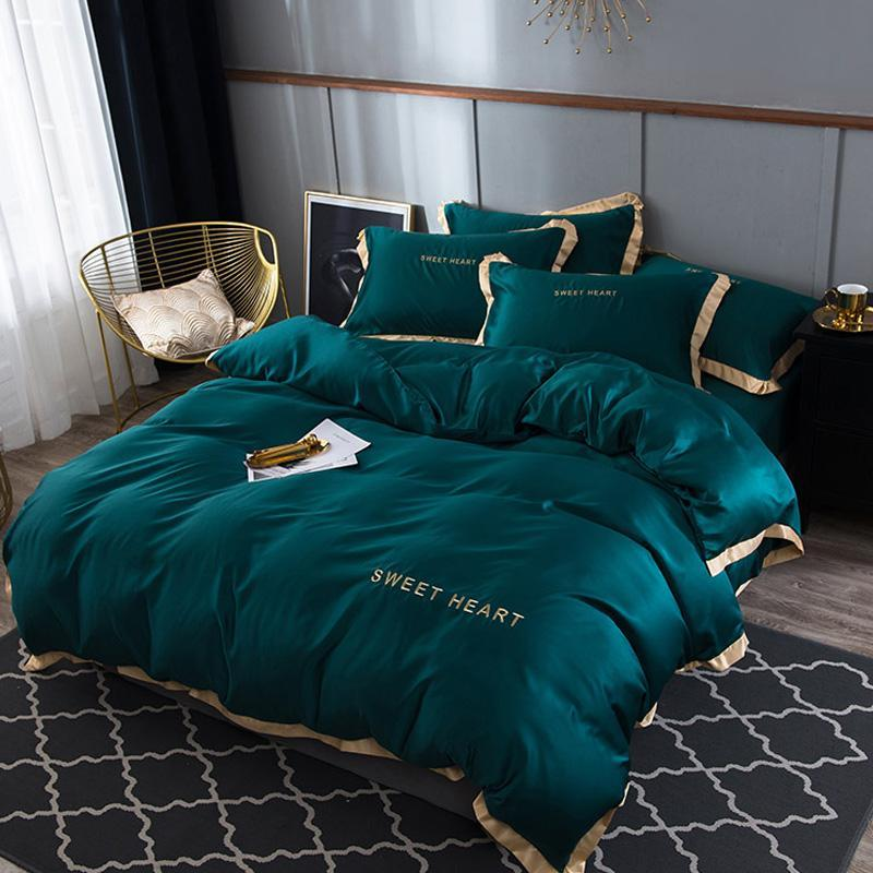 45 Bettwäsche-Set 4Flat Bettlaken Kurzbettbezug Sets König Bequeme Steppdecken Bettwäsche Bettwäsche