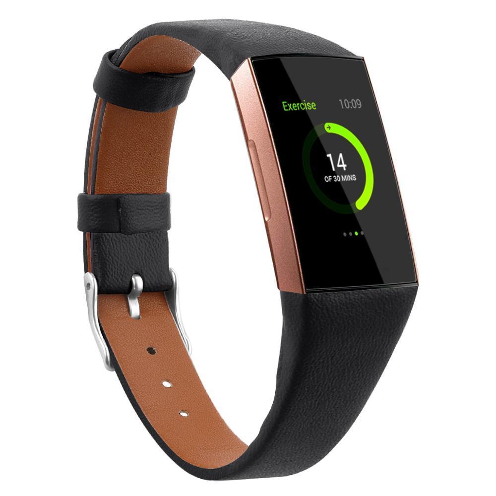 Fitbit Şarj Için deri Bilezik 3 Band Fitbit Şarj 3 Correa Için Yedek Deri Watch Band Correa Fitbit Saat Kayışı 63008