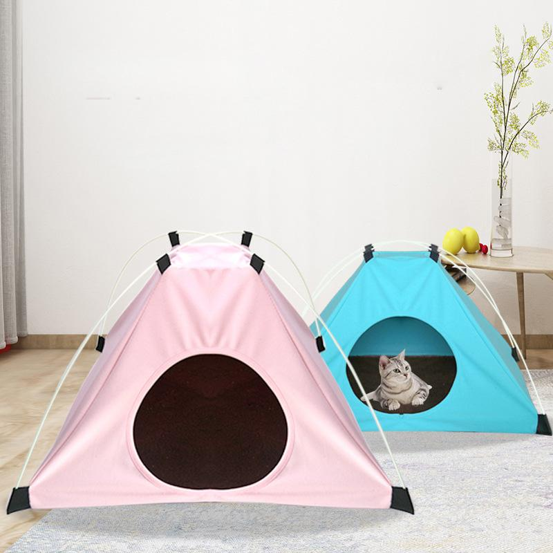La tenda Nest nuovo animale domestico può essere piegato con un velluto pad per mantenere caldo Cat Litter Four Seasons universale Doghouse Tenda