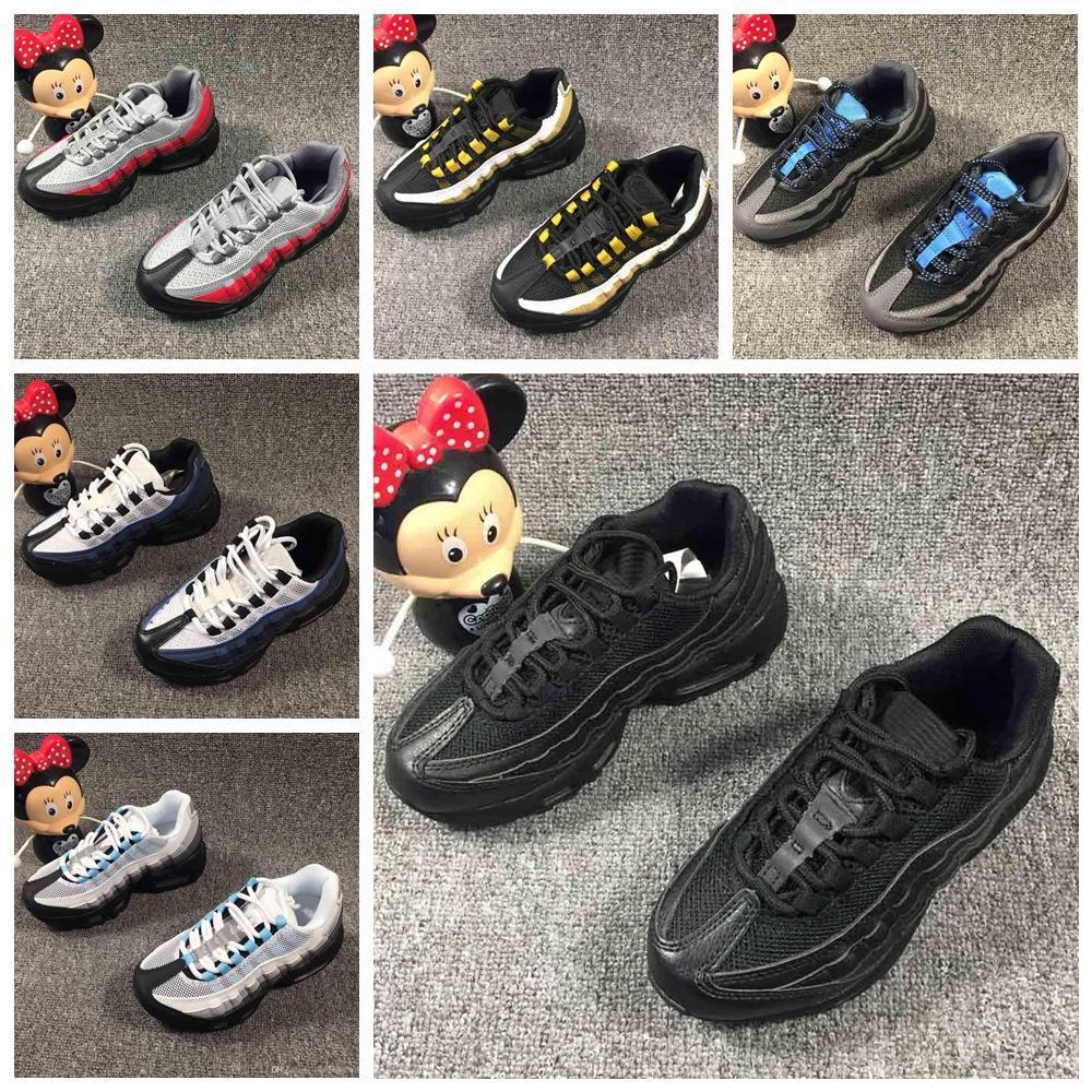 2019 Recién llegado para niños Zapatillas Cojín Plata Oro Zapatillas de deporte Diseñadores deportivos Deportes Zapatos al aire libre airEUR 28-35