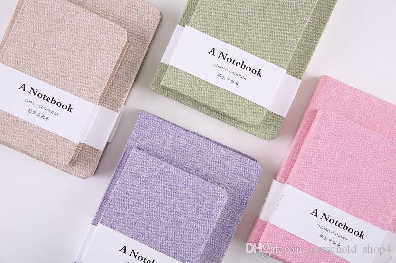 Logo costume de linho Notebook cobrir de tecido do Jornal Notepand Diário papelaria Livro Notebook Caderno de papel Linha