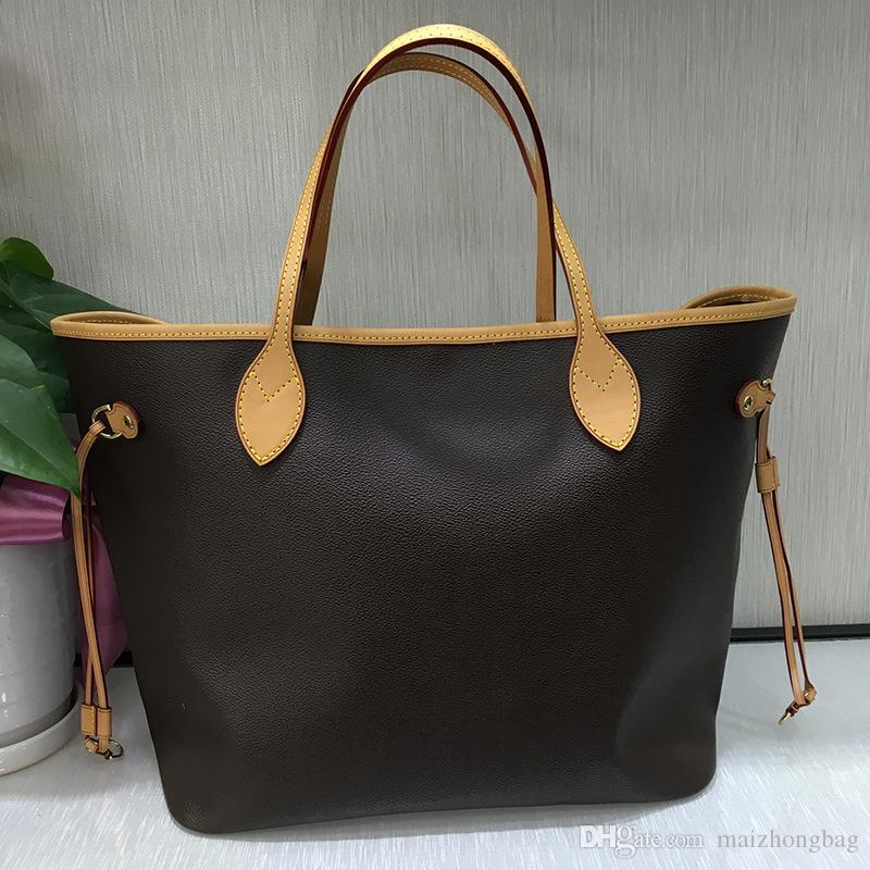 Heißer Verkauf naverful Frauenhandtaschen Geldbörsen echten Rindleder Tote Kupplung Schulter Einkaufstasche akzeptieren Stempel Oxydierbare