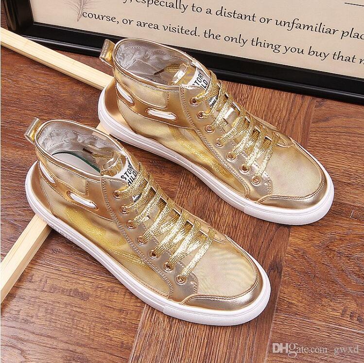 Yeni stil Moda Yüksek Top Erkekler Tuval Erkekler Casual Ayakkabı Üst Kalite Sonbahar Kış Erkek Ayakkabı G376 Ayakkabı