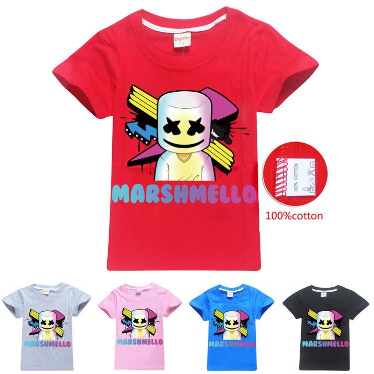 Kid Girls Boys Marshmello T Shirt DJ Music 100/% COTTON Short Sleeve Tee Shirts