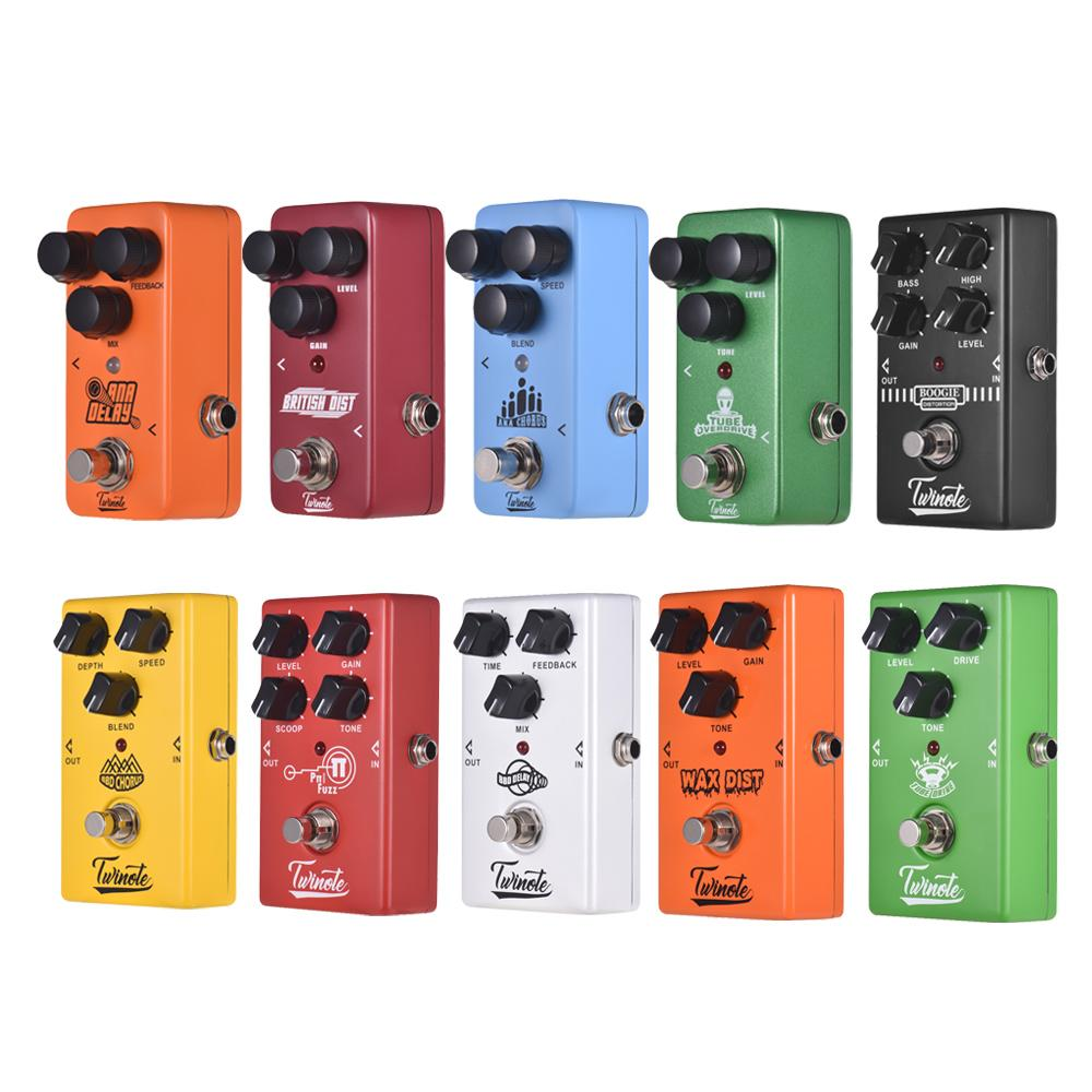 Twinote Electric Guitar Effect Pedal Vintage Old School Distortion Modern FUZZ Overdrive BBD Analog Delay Analog Chorus Effects