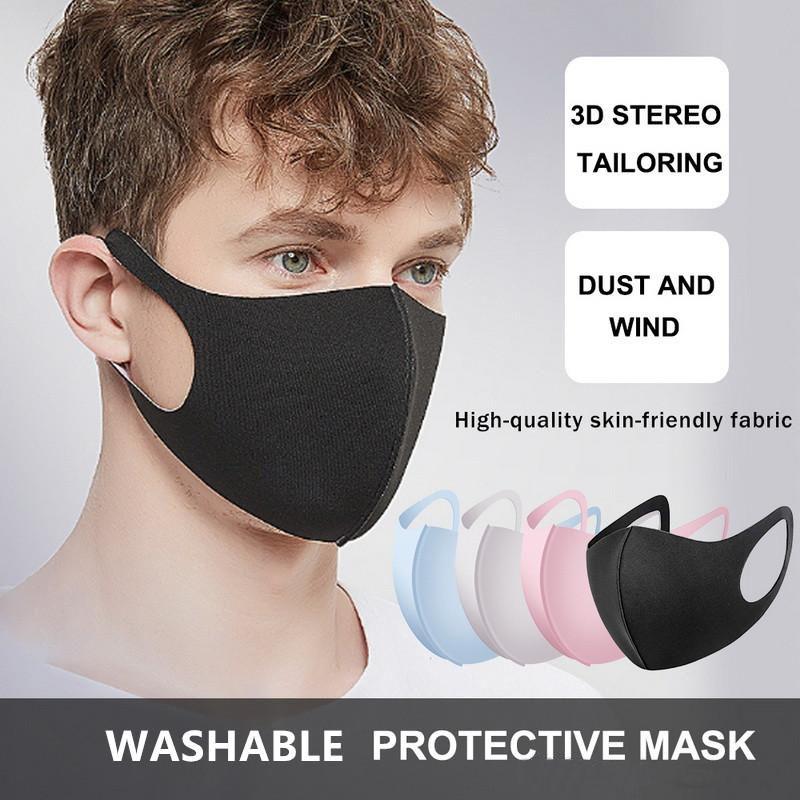 Mascarillas de protección Azul Rosa reutilizable para niños Ciclismo anti boca del polvo de algodón de los niños del paño máscara máscaras respiratorias Moda