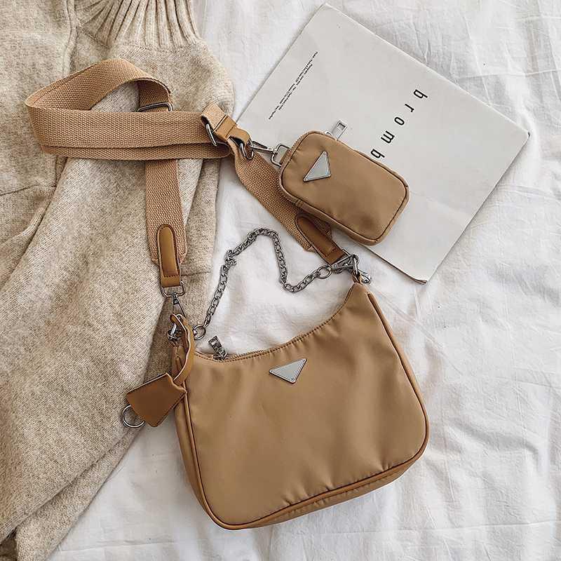 De hombro retro bolsa de nylon para las mujeres de moda de la vendimia del bolso femenino Pequeño subaxilar Bolsas Casual Retro Mini Bolsa de hombro Bella