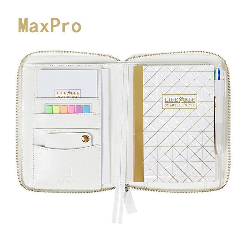Notebook A6 Macaron Zipper da folha solta espiral Planner doces bonito doce viagem Dot Diário pessoal Agenda Organizer