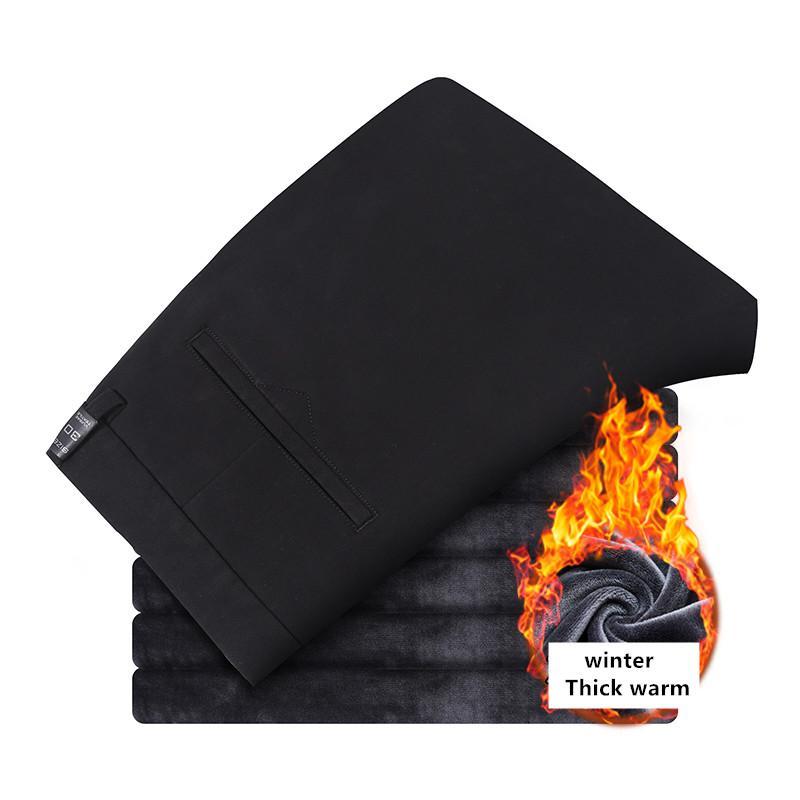 homens inverno mais grossa de veludo quente Hetero soltas Casual Pants 2020 Novo alta qualidade real confortáveis de algodão Calças de negócios