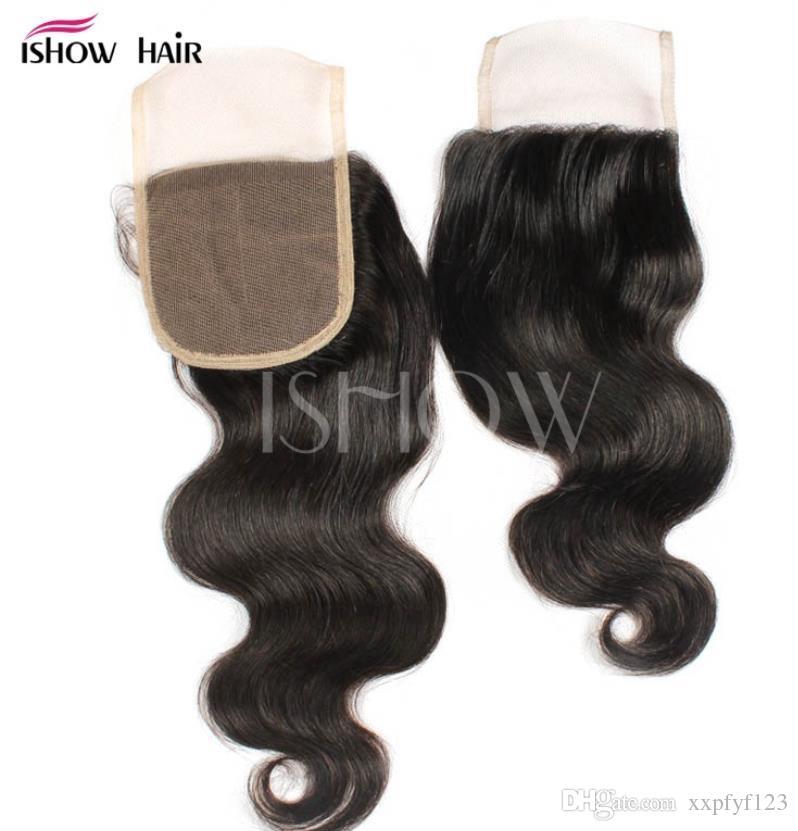 O cabelo humano tece 9a onda brasileira do corpo com feixes de laço de fechamento tecer para mulheres negras fzp197