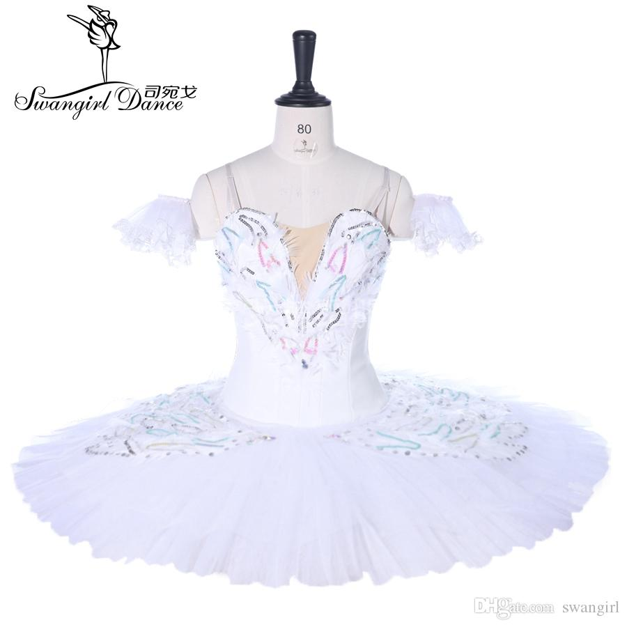 Dying White Swan Professional Ballet Tutu Women Performance Classical Ballet Stage Costumes BT9257t Costume for girlsBT9255
