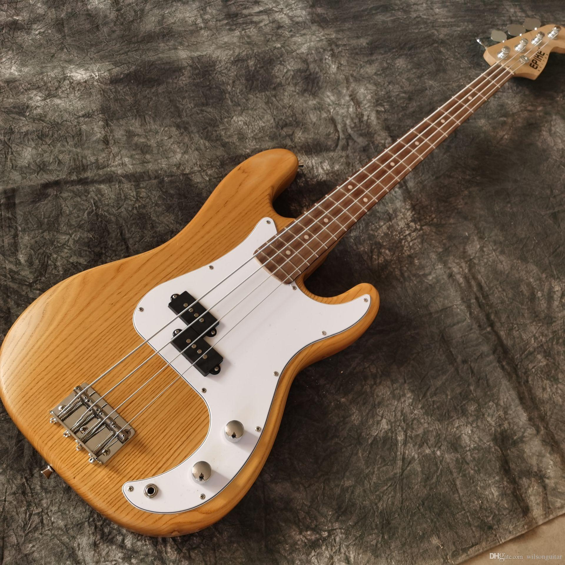 Novo estilo, de alta qualidade baixo elétrico guitar.handmade 4 picadas guitarra.rosewood baixo fotos fingerboard.real