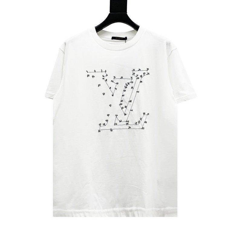 20ss 디자이너 티 티셔츠 별자리 연결이 티 인쇄 남성 의류 인쇄 짧은 소매 남성 셔츠 태그 새로운 흰색 망