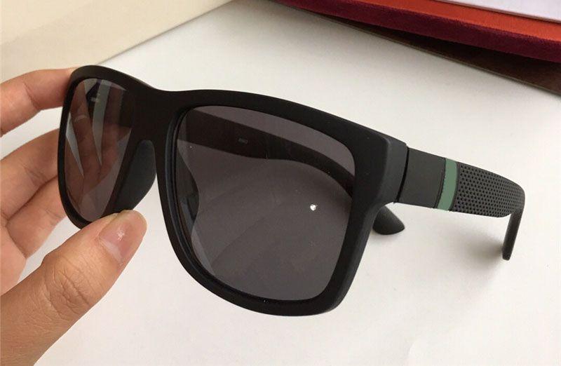 Nuevo lujo 1124S Gafas de sol de diseñador Gafas de moda 1124 Marco cuadrado Lente de revestimiento Fibra de carbono Gafas UV400 Protección Viene con estuche