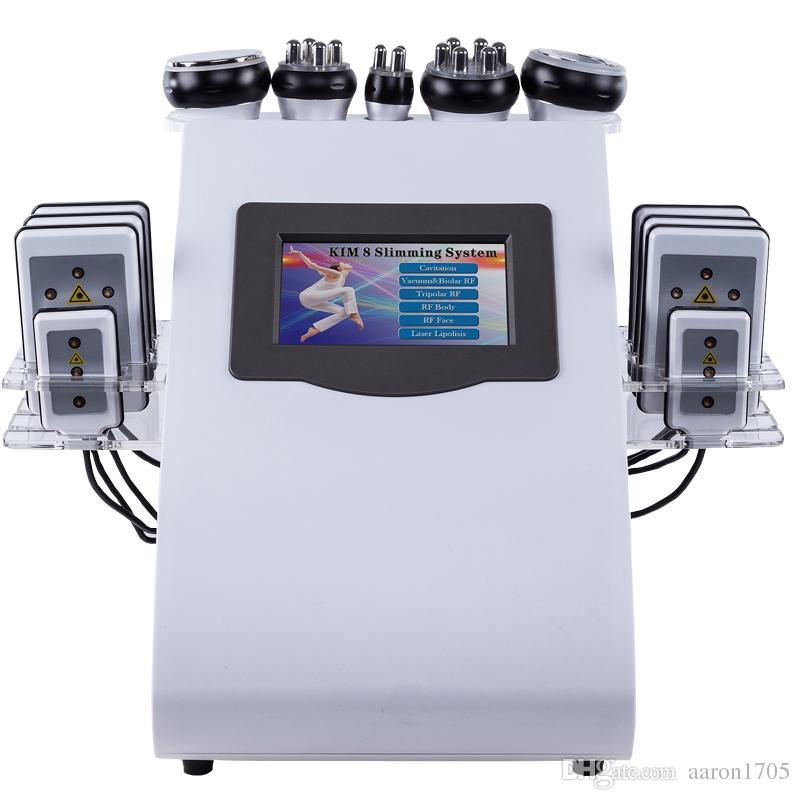 6 1 초음파 cavitation lipolaser RF 진공 슬리밍 기계 바디 조각 피부 살롱 미용 기계 강화