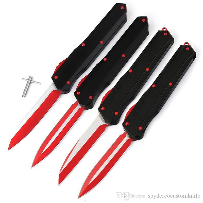 Miker Multi-Funktion Rot D2 Klinge zweischneidiges kampieren taktisches Faltblatt 7075 Aluminiumlegierung schwarz Großhandel EDC Werkzeuggriff