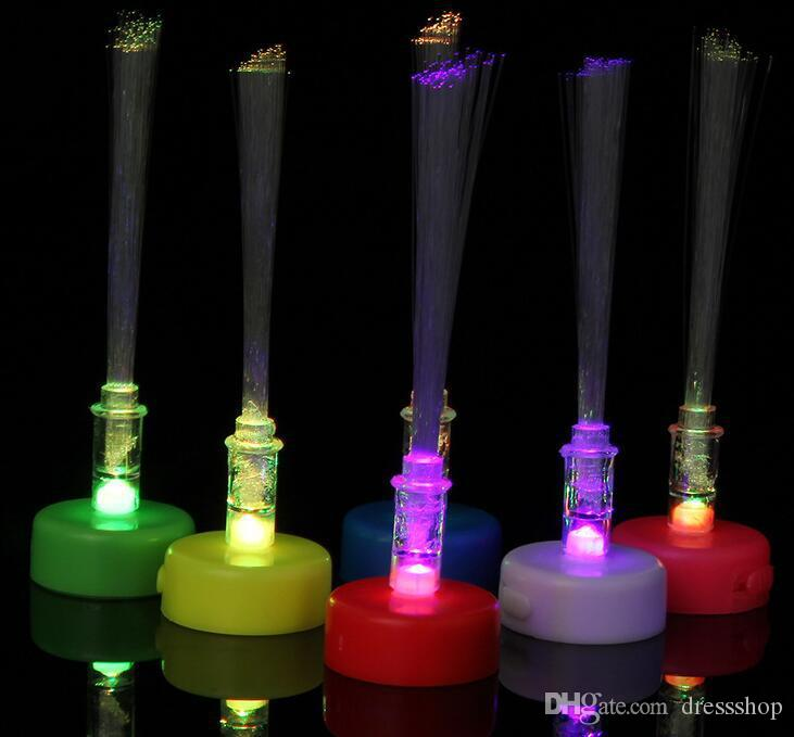 Fabbrica di fibre posto piccolo lume di candela ha portato a lume di candela in fibra di luce mini candela in fibra ottica albero di Natale