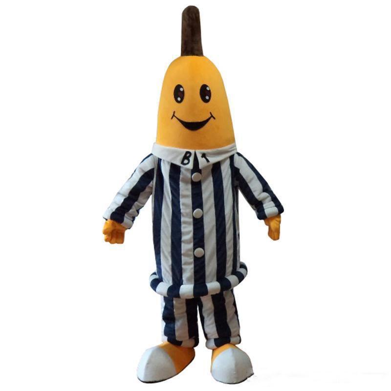 2019 Fabrikverkauf heiße Bananen im Schlafanzug Maskottchen Kostüme Bananenkostüme für Halloween Party Event