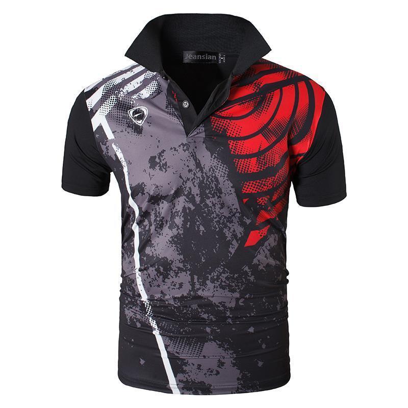 jeansian Erkekler Spor Tee Polo Shirt Mixposten Poloshirts Golf Tenis Badminton Kuru Fit Kısa Kollu LSL252 CX200630