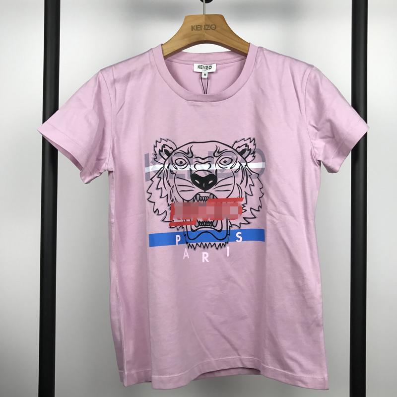 Женщины Designershirts Luxury Lady Summer футболки Классический Tiger Пуловер Короткие рукава Женщины Brandshirt Лучшие Тис Девушка Рубашки Д4 B105591L