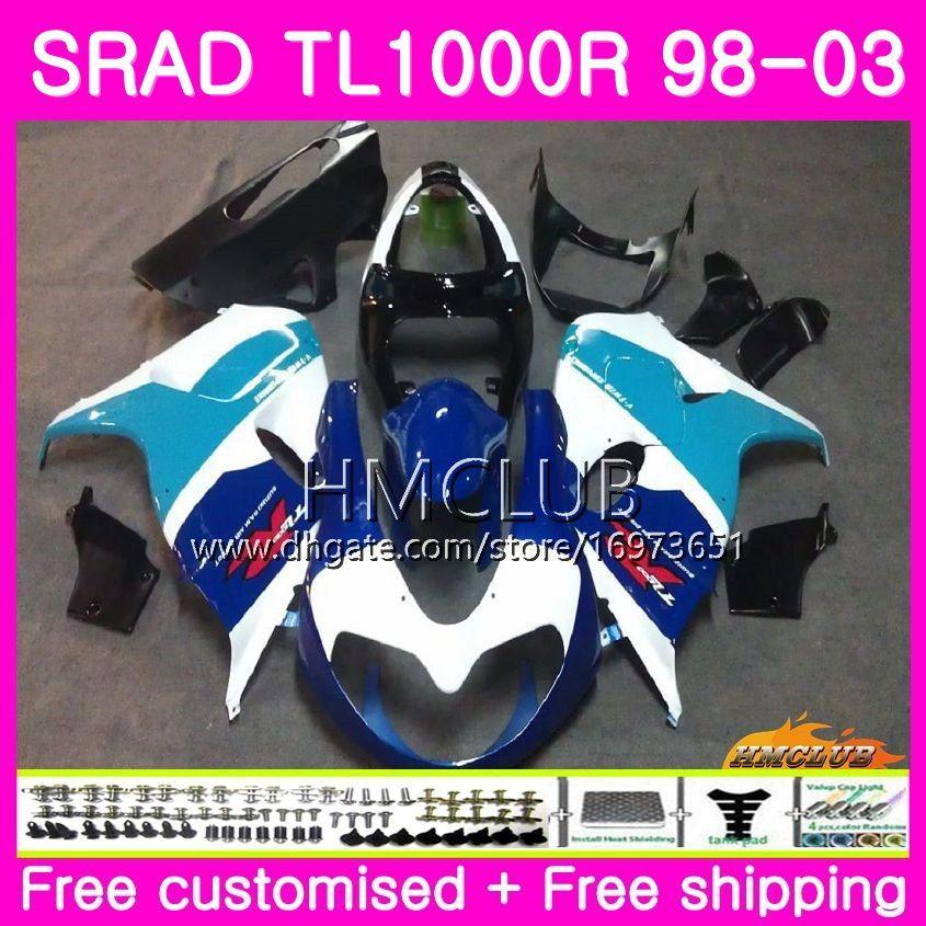 Injection For SUZUKI SRAD TL 1000 R TL1000R 98 99 00 01 02 03 16HM.21 TL1000 R TL 1000R 1998 1999 2000 2001 2002 2003 Fairing Top Black Blue