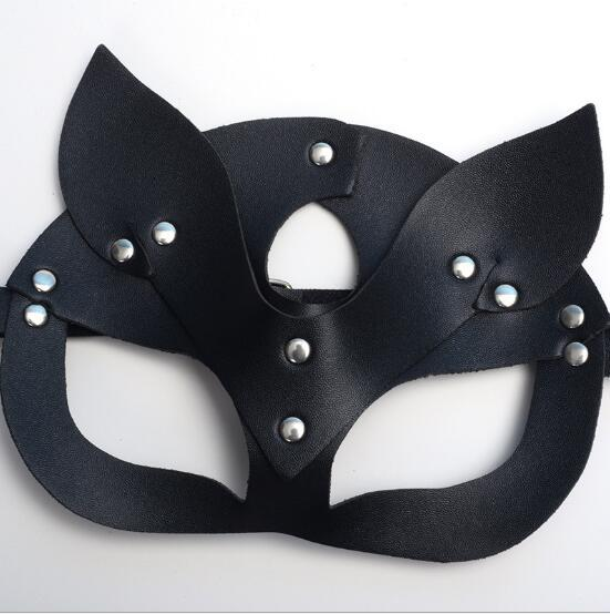 Women Sexy Mask Half Eyes Cosplay Face Cat Leather Mask Halloween Party Cosplay Mask Masquerade Ball nf Fancy Masks 21*15cm