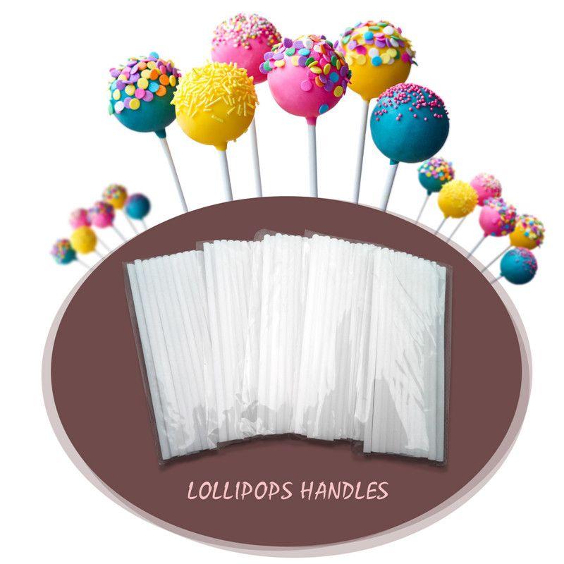 عالية الجودة DIY 100pcs التي 100MM البوب المصاص العصي كعكة البلاستيك مصاصة مصاصة الحلوى الشوكولاته النمذجة قالب قوالب دعائية