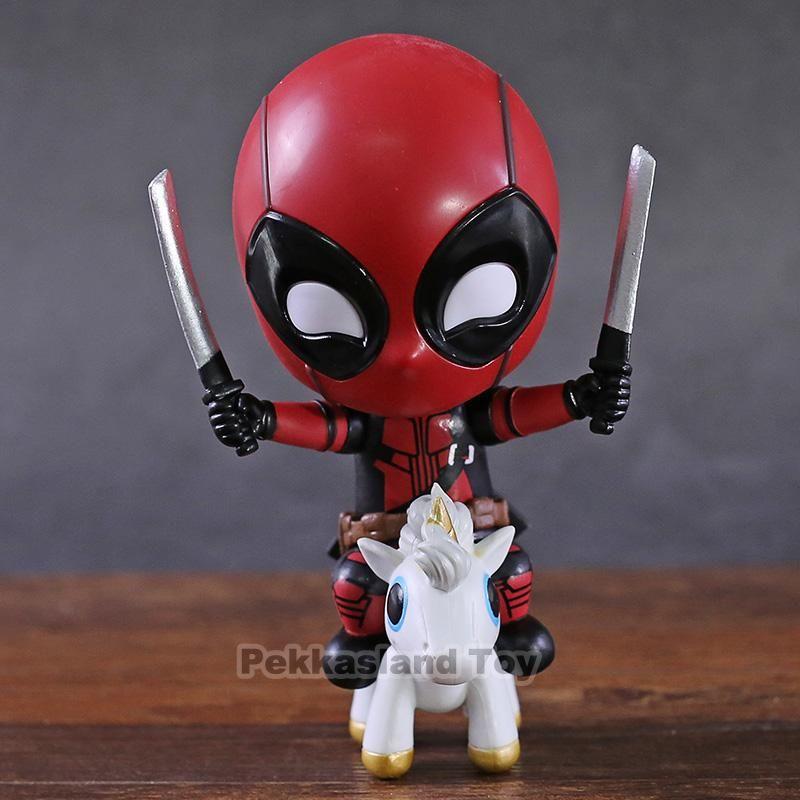 Deadpool 2 Unicorn Riding version Cute Mini Action Figure Toys Gift In Box