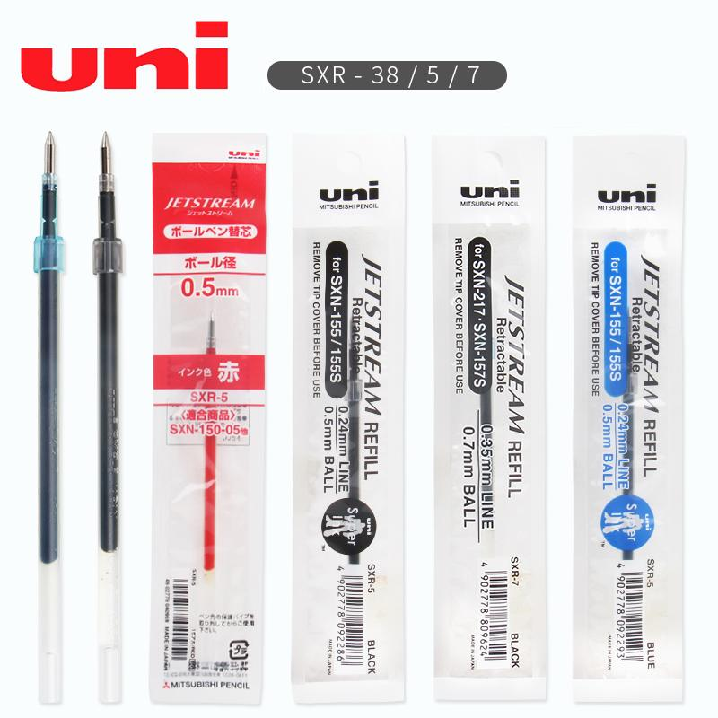 BLUE 12 pcs Uni-Ball Jetstream SXR-5 Ballpoint Pen Refills 0.5mm Extra Fine