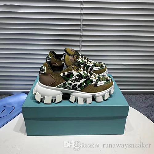 High Top Zapatos de diseño barato para los hombres Cloudbust zapatos de cuero auténtico trueno suela de goma populares estilo italiano de lujo zapatilla de deporte del diseñador