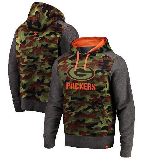 Männer Green Bay New Style Packer Authentic Sweatshirt Weinlese-Gruß zu den Service-Therma-FIT Leistung Hoodie