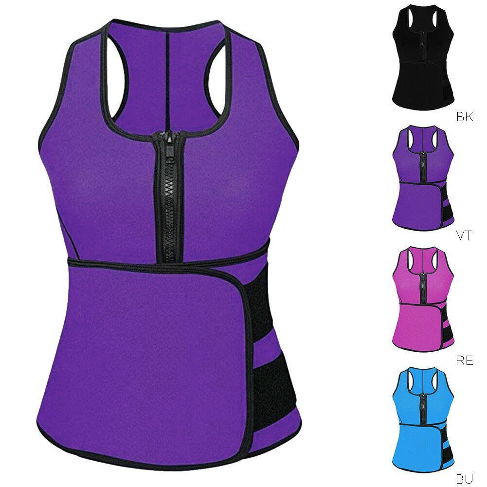النساء الليدي Neoprene مشد الخصر خزان سترة التمرين Slimming Shapewear Sweat Belt Button Shaper Body Shaper For Women Plus S S M L XL XXL