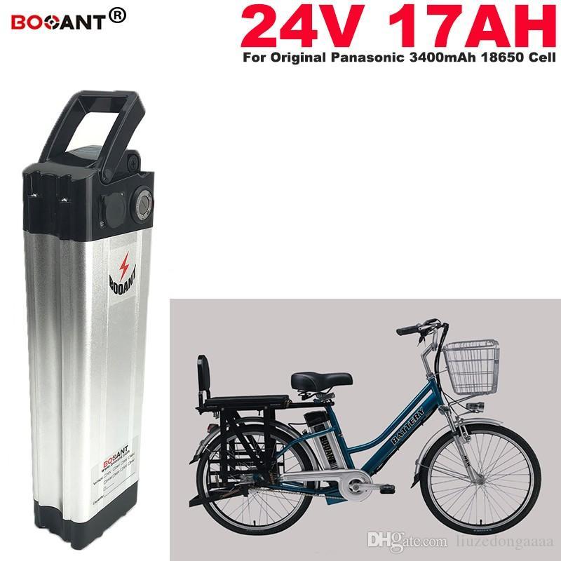 E-bici de la batería de litio de 24V 17Ah para Bafang BBS02 250W 350W 500W motor de bicicleta eléctrica de 24V de la batería para celular Panasonic + 2A Cargador