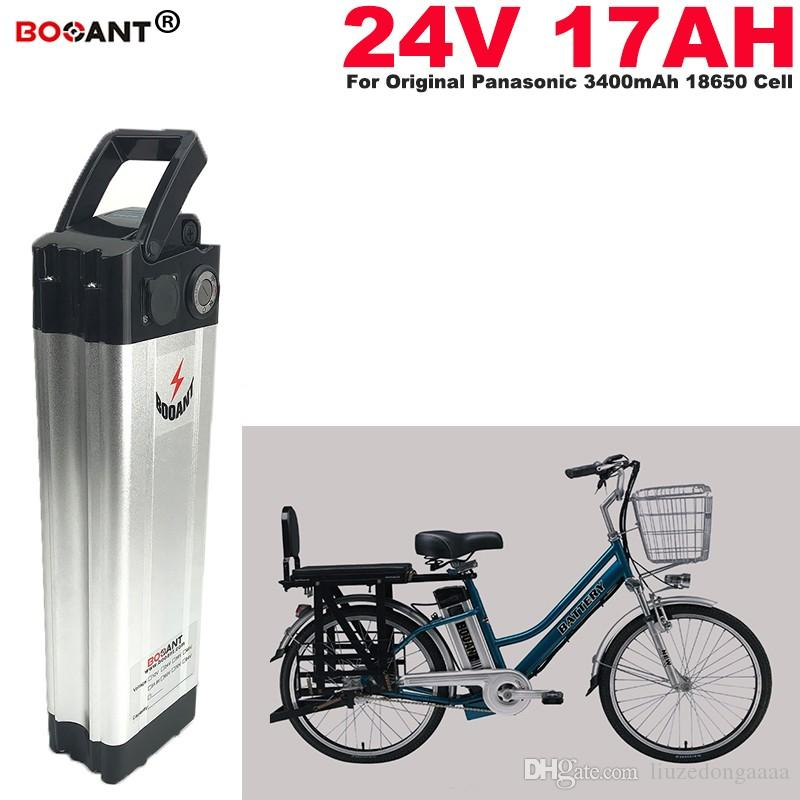 E-bike Lithium Battery 24v 17Ah for Bafang BBS02 250W 350W 500W Motor Electric Bike battery 24V for Panasonic cell +2A Charger
