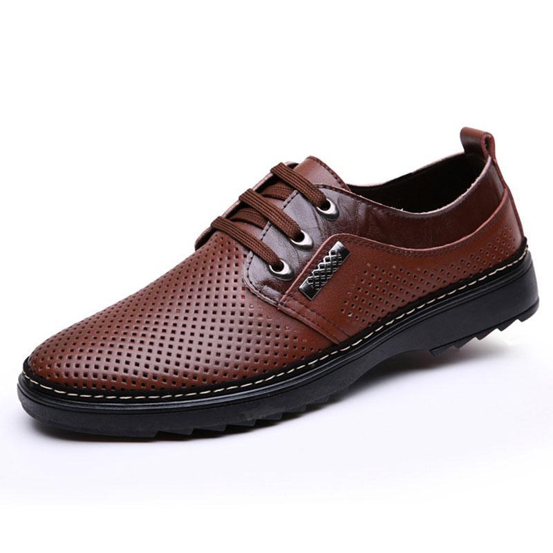 Sapatos de Verão Sandália de Men Sandals alta qualidade confortável couro macio Homens Sandals Shoes não escorregar dos homens respiráveis Outdoor