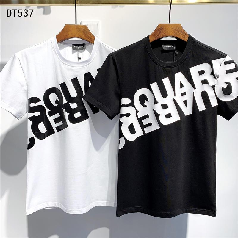 DSQUARED2 DSQ2  SS20 New Arrival Top Quality D2 Clothing Men'S T-Shirts Print Street dress Tees Short Sleeve M-3XL DT537